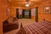 Cabin with King suite and sleeper sofa in room