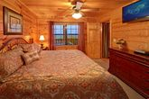 Cabin with King bed and 2 hot tubs