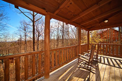 1 bedroom cabin with wooded view and hot tub - Happily Ever After