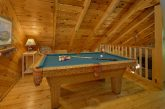 Open Loft Game Room with Pool Table