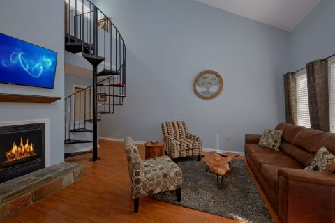 Living room with Fireplace in condo - Hearthstone