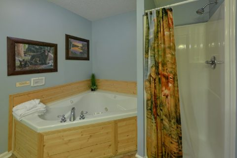 Master Bath with Jacuzzi Tub in 3 bedroom condo - Hearthstone