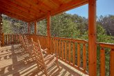 Rocking Chairs on Covered Deck 4 Bedroom Cabin