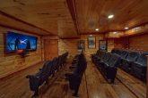 Large Theater Room 12 Bedroom Cabin Sleeps 54