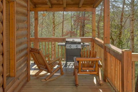 Covered Deck with Grill and Rocking Chairs - Heavenly-RAE