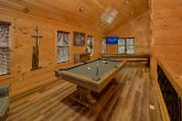Game Room with Pool Table in 2 bedroom cabin