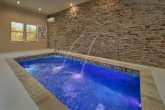 Private heated indoor pool at 2 bedroom cabin