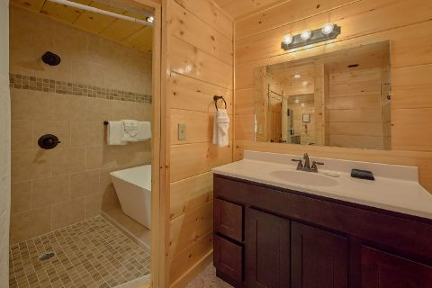 2 bedroom cabin with Luxurious shower and tub - Hickory Splash
