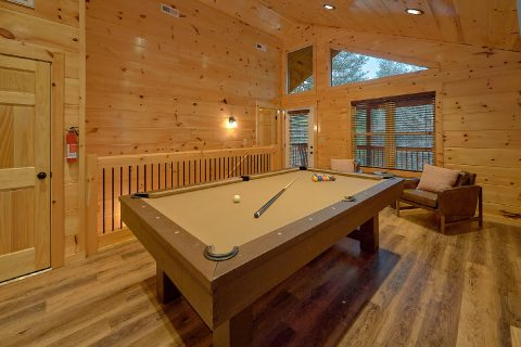 2 bedroom cabin with pool table in game room - Hickory Splash