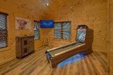 2 bedroom cabin with Skee Ball and Game Room