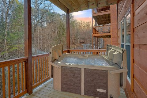 2 bedroom cabin with hot tub and private pool - Hickory Splash