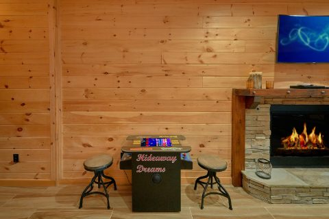 Spacious Game Room with Arcade Game & More - Hideaway Dreams