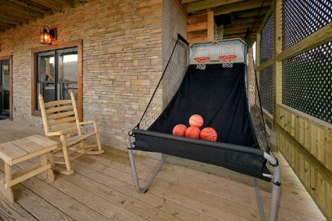 Outdoor Games on Deck with Spectacular Views - Hideaway Dreams