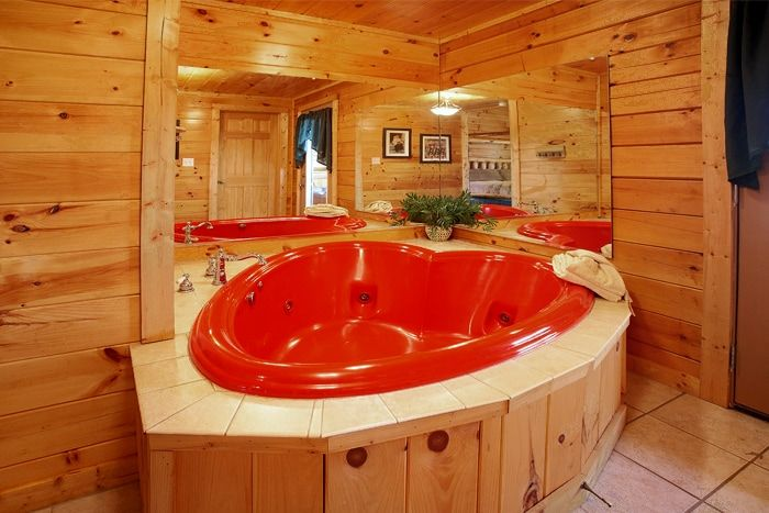 Smoky Mountain Cabin with a Heart Shaped Jacuzzi - Hideaway Heart