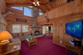2 bedroom cabin with wood burning fireplace