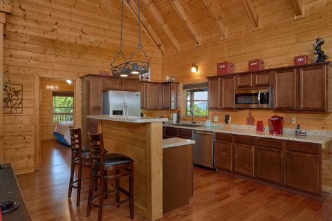 3 bedroom cabin with full size kitchen - Honey Bear