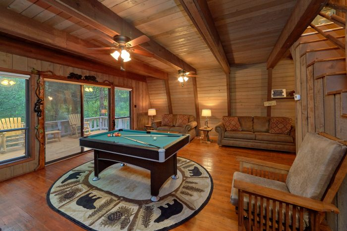 Honeycomb Hideout Affordable Bedroom Cabin In Sevierville - Honeycomb pool table