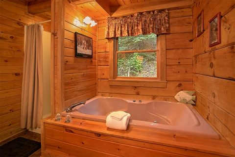 Large Jacuzzi Tub for Two - Hunting Hollow Haven