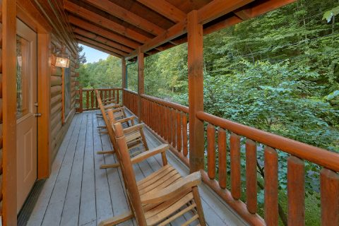 Larger Covered Decks with Rocking Chairs - In The Heart Of Pigeon Forge