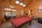 1 bedroom cabin with Pool Table in game room
