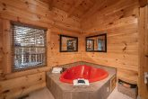 Private Jacuzzi Tub in Luxurious 1 bedroom cabin