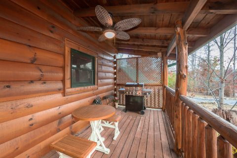 Cabin with grill, covered deck and fire pit - It's A Waterful Life