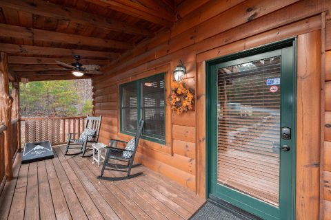 1 bedroom cabin with rocking chairs on the deck - It's A Waterful Life