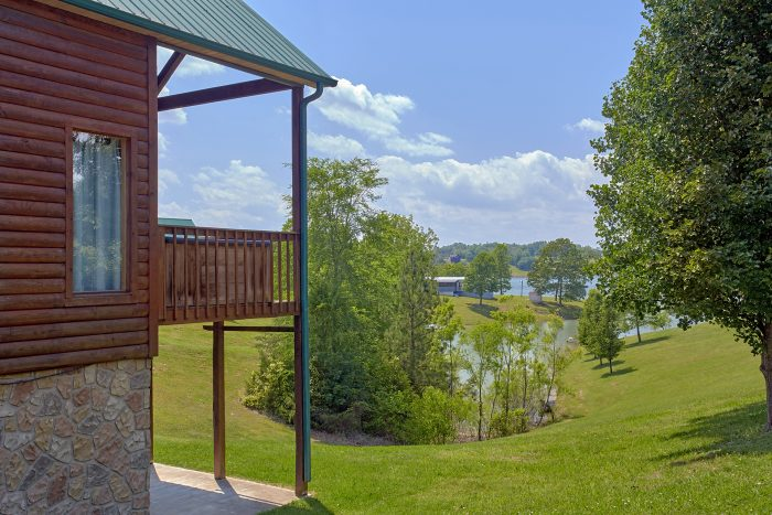 Covered Deck with View of Lake - Ivey's Cove