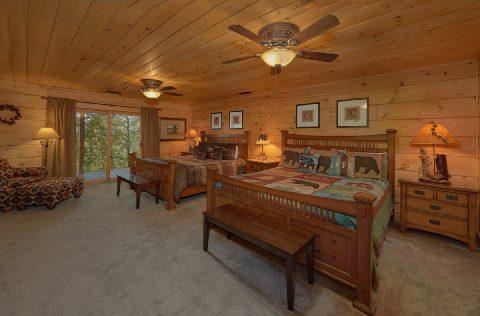 5 King Beds 4 Queen Beds 6 Bedroom Cabin - KenKnight's Wilderness Lodge