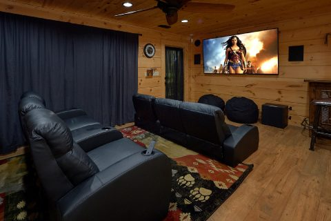 Theater Room with Theater Seats 6 Bedroom - KenKnight's Wilderness Lodge