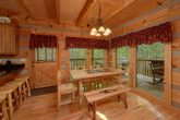 Wears Valley cabin with an eat-in dining room