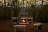 Stone Firepit at 1 Bedroom Honeymoon Cabin