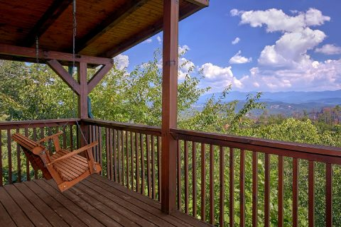 Luxury Cabin with Porch Swing and Mountain Views - Lasting Impression
