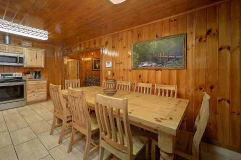 Spacious Dining area in Gatlinburg Cabin - Laurel Manor