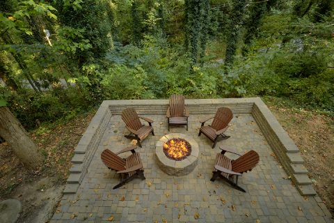Fire Pit at 4 bedroom Gatlinburg Cabin Rental - Laurel Manor