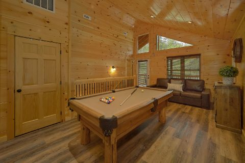 2 bedroom cabin game room with pool table - Laurel Splash