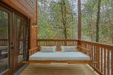 Indoor Pool cabin with large porch swing