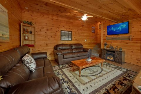 Lower Level Living Room Game Room - Lil Country Cabin