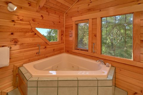Private Jacuzzi Tub in Master Suite - Livin' Lodge