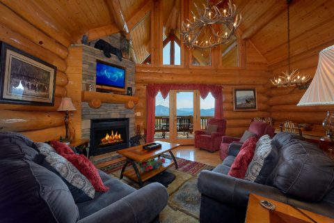 4 Bedroom Cabin with Luxurious Living Room - Lodge Mahal