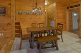 Rustic cabin with spacious dining room
