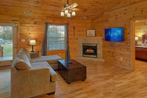 3 bedroom cabin with Fireplace in living room - LoneStar