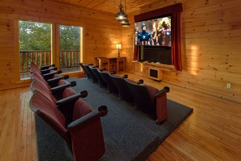 6 Bedroom Cabin with Theater Room Sleeps 22 - Lookout Lodge