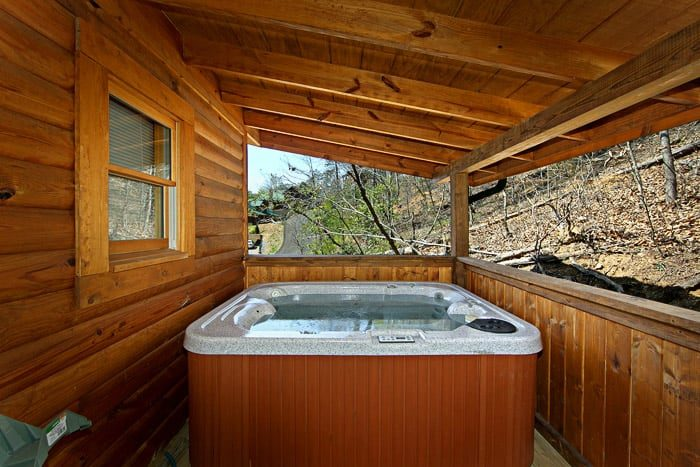 Cabin with Hot Tub on Back Deck - Lovers Paradise