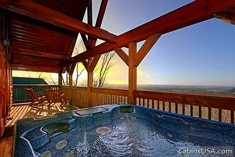 Luxurious Outdoor Hot Tub with Breathtaking View - Lucky Break