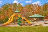 Cabin with large playground and picnic area