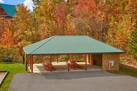 Cabin with large picnic pavillion - Lucky Break