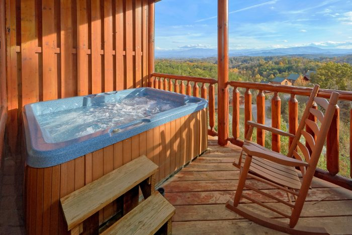 Luxury Cabin with a View and Hot Tub - Majestic View