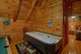 Game Room in Loft with Pool Table