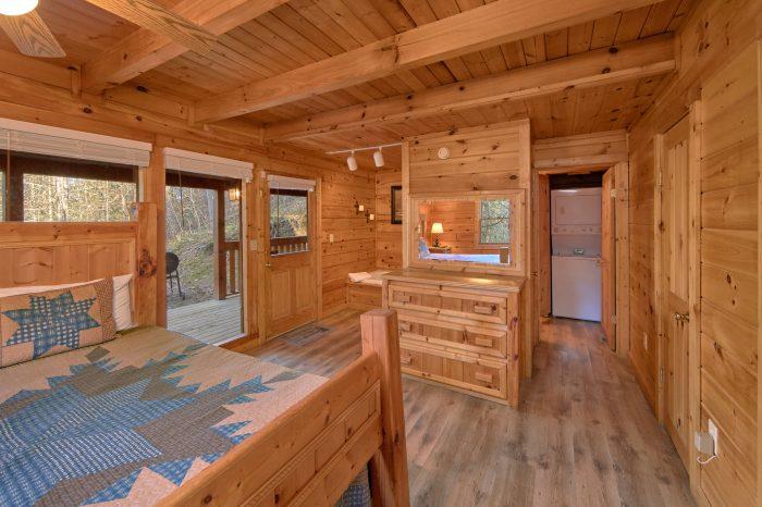 Main Floor Master Bedroom 2 Bedroom Cabin - Making More Memories